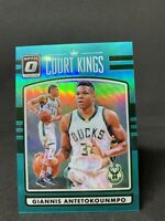Giannis Antetokounmpo 2016 Optic Court Kings Teal Holo /25 Prizm