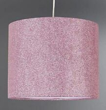 MND Brand New Pink Glitter Pendant Shade Ideal for Girls Bedroom Easy to Clean