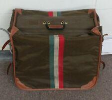 LARK Italian Suitcase Tri- Color Luggage Hanging Bag - Antique Collectible