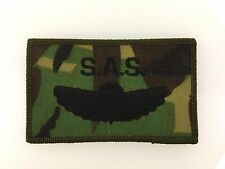 British S.A.S. Paratrooper's cloth jump wings. 1990s camouflage patch style issu