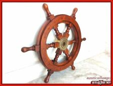 Vintage Maritime 18 Inch Ship Wheel Wood Boat Steering Ship Wheel Nautical Gift