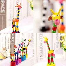 Toys Wood Giraffe Can Move Birthday Gifts For Kids Learning And Educatioanl Toys