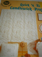 1983 Candlewicking Quick & Easy Candlewick Project Pattern Book Flower Bag Quilt