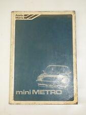 MINI METRO WORKSHOP MANUAL PART No. AKM 4694 (2nd EDITION). ORIGINAL.
