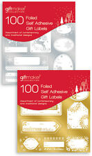100 etiquetas de regalo de Navidad 50 oro y 50 Pegatinas de Navidad Etiquetas De Regalo De Lámina De Plata