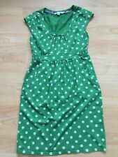 BODEN green spotted Casual Weekend Dress size 10R . WH761