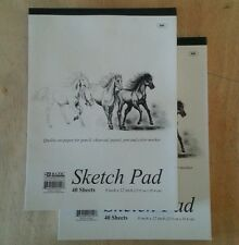 2 x Sketchbook 9 x 12 Inches 40 Sheets Premium Quality Sketch Drawing Paper Pad