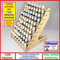 75 HOLES BOTTLE PAINT RACK TYPHOON USA HOBBY STORAGE WOODEN ORGANIZER VALLEJO