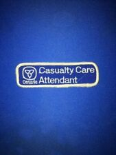 ONTARIO CASUALTY CARE ATTENDANT PATCH, EMS AMBULANCE, ONTARIO CANADA