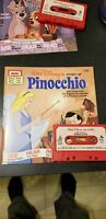 1977 Walt Disney's Story Of Pinocchio See Hear Read Book And Tape