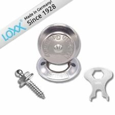 For 1 Guitar Loxx Strap Lock System for Guitar or Bass - Nickel Plated