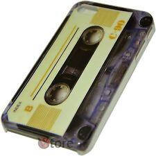 Cover Custodia Per iPhone 4S e 4 Cassetta Retro Index C-90 + Pellicola Display