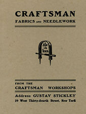Gustav Stickley - Craftsman Fabric and Needlework - Catalog Reprint - New Cond