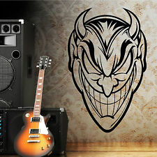 THE DEVIL SATAN LUCIFER vinyl wall art sticker decal FACE IMAGE