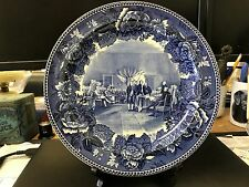 Antique Wedgwood Plate Signing of the Declaration of Independence Flow Blue