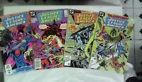 Justice League of America issues # 251 252 253 254 (DC,1980s) Batman Vixen Steel