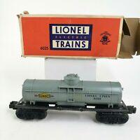 LIONEL Postwar 6035 Lionel Lines Single Dome Sunoco Tank Car, O