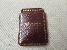Vintage miniature Leather Case w/ Christian Medal Unter Deinem Schutz Maria Zell