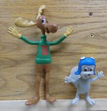 Rocky And Bullwinkle Bendy Figures Jesco Vintage / I Combine Shipping