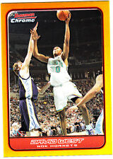 06-07 Bowman Chrome gold refractor David West #ered 21 of 50 basketball card