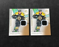 2019-20 SP GAME USED KARSON KUHLMAN LOT OF (2) AUTHENTIC ROOKIE JERSEY #ed /599