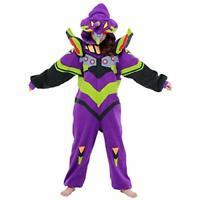 SAZAC Evangelion Unit 01 Costume Glow in the Dark Halloween Fleece Kigurumi New