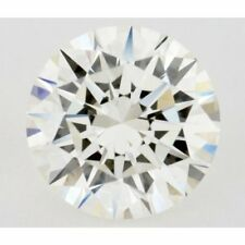 Huge 1.02 ct 6.95 mm VVS1 Off White Yellow Round Cut Loose Moissanite 01