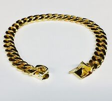 18k Solid Yellow Gold Miami Cuban Curb Link Mens Bracelet 8 5 40 Grams 8mm