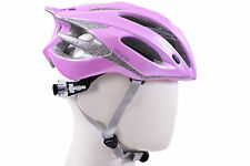 GIANT ARES BICYCLE HELMET CARBON CROWN SAFETY MEDIUM 54-58cm PINK FLOWERS