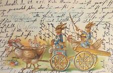 """""""Pascua,Coche de caballos,Conejo de pascua,Gallo,Soldados,Cañón"""" 1905,"""