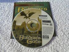 Baldur's Gate PC DVD-ROM - Disc and Quickstart Guide ONLY - Free UK P&P