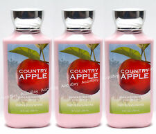 Lot of 3 - COUNTRY APPLE - Shea Body Lotion - 8oz FULLSIZE - Bath and Body Works