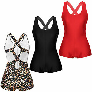 Womens Sexy Gym Sports Yoga Rompers Hollow Out Leotard Workout Bodysuit Jumpsuit