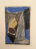BAZAINE Dessin rehaussé à la gouache inséré dans Notes sur la peinture