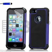 NEW STYLISH SHOCK PROOF SERIES CASE COVER FOR IPHONE 5 5S FREE SCREEN PROTECTOR