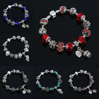 Fashion 12 Beads Silver Plated Rhinestone Charm European Bracelet Jewelry