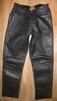 "UNLINED UNIKAT "" BEAR FOOT "" LEDERJEANS / Lederhose in schwarz ca. W30""/ L31"""