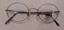 Elan 9168 Antique Silver 49/19 Oval Metal Eyeglass Frame Nos #217