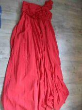 EDRESSIT schönes langes Abendkleid Stoffblumen rot Gr. 38 TOP  KSA517