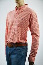 Ralph Lauren Classic Fit Red Green White Plaid Long Sleeve Shirt/green Pony- 2xl