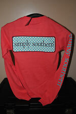 NWT Simply Southern Coral Womens Sz. XS (Extra Small) Long Sleeve T-Shirt
