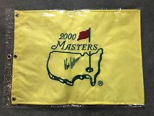 Hal Sutton Signed 2000 Masters Flag Players & PGA Winner 2004 Ryder Cup Captain