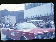1968 35mm photo slide Convertible Chrysler Car in Parade