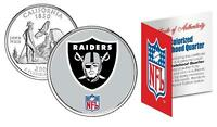 OAKLAND RAIDERS *Officially Licensed* NFL CALIFORNIA US State Quarter Coin w/COA