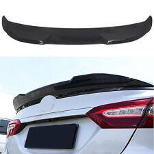Fit For 2018-2020 Toyota Camry Rear Trunk Spoiler Splitter Wing Lip Gloss Black
