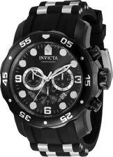 Invicta Men's 34666 Pro Diver Japanese Quartz Black Steel Band Chronograph Watch