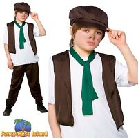 KIDS VICTORIAN CHILD URCHIN OLIVER TWIST POOR Ages 3-13 Boys Fancy Dress Costume