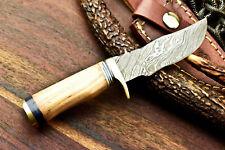 Custom Hand Made Damascus Steel Blade Hunting Miniature Knife | Olive Wood