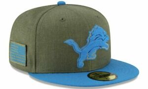 DETROIT LIONS NFL SALUTE TO SERVICE NEW ERA 59FIFTY FITTED SZ 7-1/8 HAT/CAP NWT