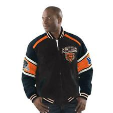 Chicago Bears OFFICIAL NFL SUEDE & LEATHER COLORBLOCKED JACKET Coat NWT S GIII